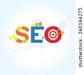 seo. search engine optimization ...   Shutterstock .eps vector #260166275