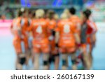 Blurred Women Handball Team.