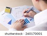 back view of businessman... | Shutterstock . vector #260170001