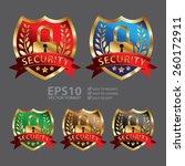 vector   metallic security... | Shutterstock .eps vector #260172911