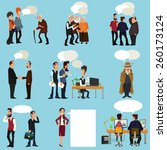 business people with speech... | Shutterstock .eps vector #260173124