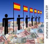 line of men holding spanish...   Shutterstock . vector #26017339