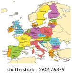 vector illustration of europe... | Shutterstock .eps vector #260176379