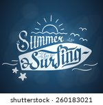 summer is for surfing hand... | Shutterstock .eps vector #260183021