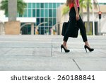cropped view of business woman... | Shutterstock . vector #260188841
