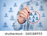 marketing segmentation  target... | Shutterstock . vector #260188955