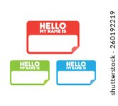 name tag stickers | Shutterstock .eps vector #260192219