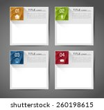 collection of abstract square... | Shutterstock .eps vector #260198615