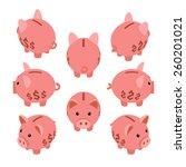 isometric piggy bank. the... | Shutterstock .eps vector #260201021