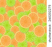 seamless pattern consisting of... | Shutterstock .eps vector #260202275