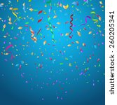 confetti background ideal for... | Shutterstock .eps vector #260205341