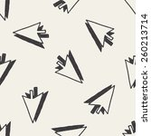 doodle arrow seamless pattern... | Shutterstock .eps vector #260213714