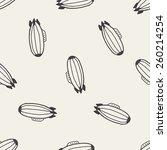 doodle zeppelin seamless... | Shutterstock .eps vector #260214254