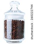 Black Pepper In A Glass Jar For ...