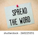 recycled paper note pinned on... | Shutterstock . vector #260225351