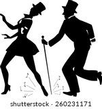 tap dance performers in stage...   Shutterstock .eps vector #260231171