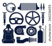 auto parts. single color vector ... | Shutterstock .eps vector #260236055