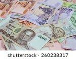 new thailand bank notes   Shutterstock . vector #260238317