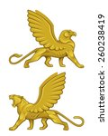 mythical creature | Shutterstock .eps vector #260238419