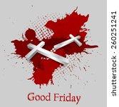 good friday background concept... | Shutterstock .eps vector #260251241