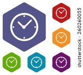 clock rhombus icons set in... | Shutterstock .eps vector #260260055