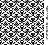 vector seamless texture  skull... | Shutterstock .eps vector #26026582