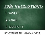 business resolutions for 2016 | Shutterstock . vector #260267345