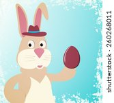 illustration of rabbit with... | Shutterstock . vector #260268011