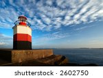 lighthouse with harbor in the...   Shutterstock . vector #2602750