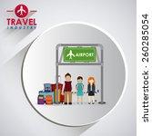 travel icon design  vector... | Shutterstock .eps vector #260285054
