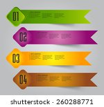 colorful modern text box...   Shutterstock .eps vector #260288771
