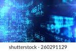 data code digital technology. | Shutterstock . vector #260291129