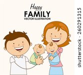 family love design  vector... | Shutterstock .eps vector #260291315
