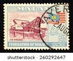 malaya   circa 1960  blue color ... | Shutterstock . vector #260292647