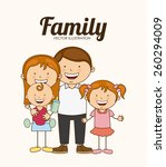 family love design  vector... | Shutterstock .eps vector #260294009
