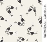 Doodle Cheers Seamless Pattern...