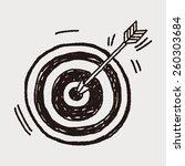 doodle archery | Shutterstock .eps vector #260303684