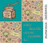 coffee. seamless decorative... | Shutterstock .eps vector #260304431