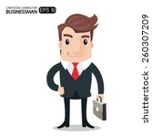 business man cartoon character. ... | Shutterstock .eps vector #260307209