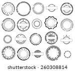 grunge rubber stamps and... | Shutterstock .eps vector #260308814