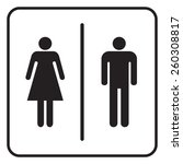 male and female toilet sign ... | Shutterstock .eps vector #260308817