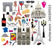 france icon collection  french... | Shutterstock .eps vector #260309015