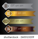colorful modern text box... | Shutterstock .eps vector #260313209