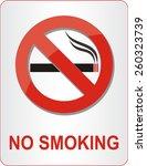 no smoking sign. vector... | Shutterstock .eps vector #260323739