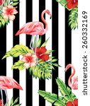 tropic summer hibiscus seamless ...   Shutterstock .eps vector #260332169