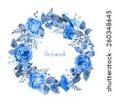 Vector Round Frame Of Blue...
