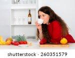 woman has a break in the... | Shutterstock . vector #260351579