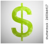 dollar sign | Shutterstock .eps vector #260366417
