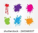 colorful paint splat set.paint... | Shutterstock .eps vector #260368337