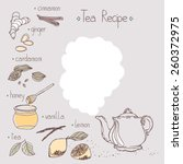 tea recipe template | Shutterstock .eps vector #260372975